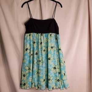 2/$30 floral flower mini dress with stretch